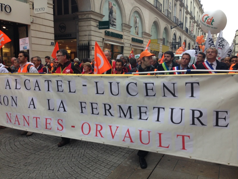 20131022 manif-alcatel-lucent